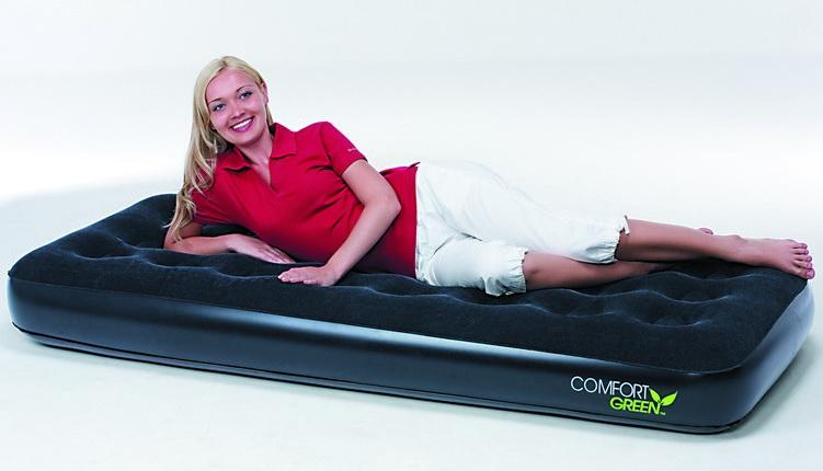 67403 высокая надувная кровать со встроенным электронасосом и сумкой в комплекте